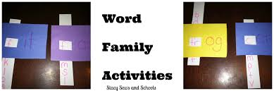 sews and schools easy word family sight word activities