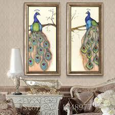 Chinese Home Decor Compare Prices On Peacock Wall Painting Online Shopping Buy Low