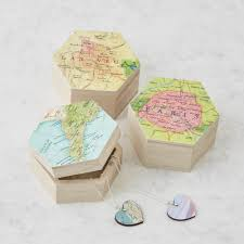 personalised jewelry box bombus personalised map location gift for hexagon jewellery box