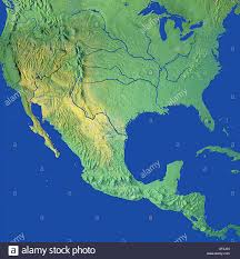 Mexico Maps Map Maps Globe Globes North America Usa Canada Mexico Stock Photo