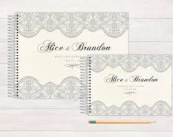 wedding registry books lace guestbook etsy