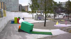 crazy golf in croydon at the putt putt 2 art installation youtube