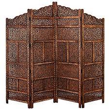 wooden room dividers amazon com legacy decor dark brown 4 panel solid wood screen room