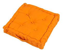 coussins de chaises de cuisine homescapes coussin de chaise de couleur orange fait en 100 coton