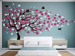 cherry blossom tree wall decal for nursery home wall ideas cherry blossom wall decals large