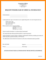 Resume For Medical Records 8 Records Release Form Template Resume Language