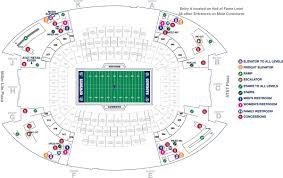 Autzen Stadium Map Dallas Cowboy Stadium Seating Chart With View From Seats My Blog