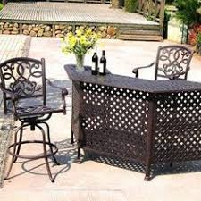 Bar Set Patio Furniture Oakland Living All Weather Wicker Half Patio Bar Set From