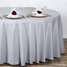 silver 108 polyester tablecloth efavormart