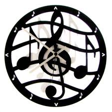 themed clocks euphyllia musical theme wall clock 28cm black