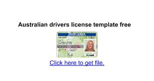 australian drivers license template free google docs