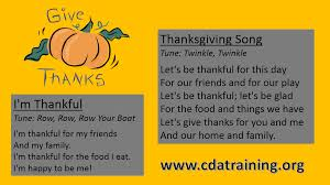 child care basics resource thanksgiving songs