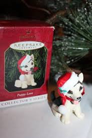 details about hallmark 2004 christmas ornament puppy love