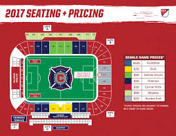 Mls Teams Map Toyota Park Seating Map Chicago Fire