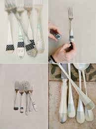 wedding silverware diy silverware