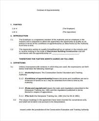 7 apprenticeship agreement form samples free sample example