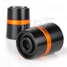 colorful lenses classic scooter motocross for harley motorcycle orange cnc aluminum bar ends rubber mount