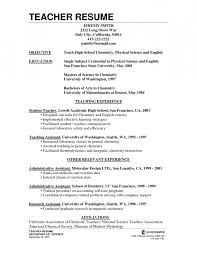 Teacher Resume Objective Best Resume by Teacher Resume Objective First Job Resume Sample Sample Resume