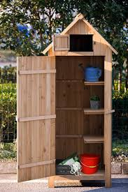 Garden Tool Storage Cabinets Storage Endearing Natural Wood Color Tool Storage Cabinet
