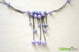 necklace making chains images How to make a pearl chain necklace with fringes for weddings jpg