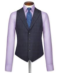 blue check flannel business suit waistcoat charles tyrwhitt