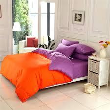 Solid Color Comforters 36 Colors Simple Elegant 100 Cotton Solid Color Orange And Purple