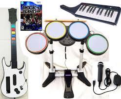 rock band kit wii ebay