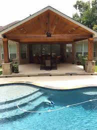 Backyard Paradise Ideas Backyard Paradise Magnolia Tx United States Gable Roof Patio