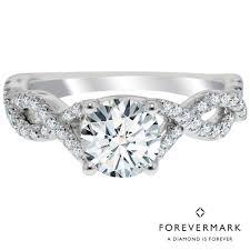 infinity engagement rings forevermark infinity diamond engagement ring in 14kt white gold