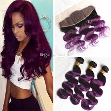 two ear hairstyle 2018 ear to ear lace frontal closure with ombre hair bundles two