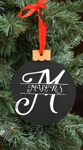season split monogram ornament monogrammed