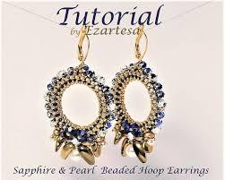 hoop beaded earrings beaded hoop earrings pattern gold seed bead earring tutorial with