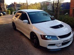 mitsubishi evolution 2005 2005 mitsubishi evo 8 full evo 9 fq320 mr spec 320bhp pearl white