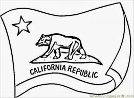 90 california bear coloring california flag