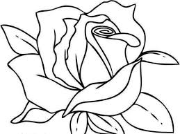 beautiful idea coloring pages draw a rose for kids rose flower
