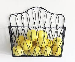 wall fruit basket tagway home wall mount storage magazine rack fruit