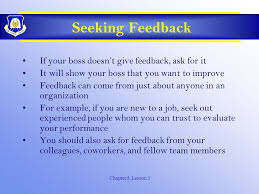Seeking About Seeking Feedback And Promotions Ppt