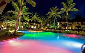 outdoor lighting around swimming pool designs