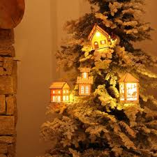 New Year House Decoration by Tree House Decorations Doily Christmas Trees With Tree House