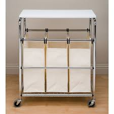 Laundry Sorter With Folding Table Laundry Sorter With Folding Table Facil Furniture