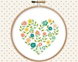 flower cross stitch pattern pdf pillow embroidered