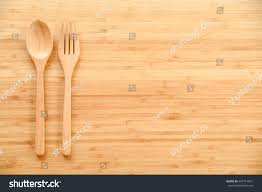 Wooden Kitchen Table Background Wooden Spoon Fork On Wood Texture Stock Photo 387714607 Shutterstock
