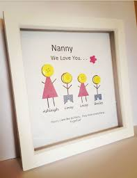 mothers day gift for nanny 28 best button family frame ideas images on button