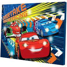 disney cars light up canvas wall with bonus led lights