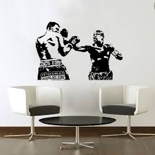 wall decals stickers home decor home furniture diy evander holyfield wall art sticker boxing sports decal vinyl mural wa651