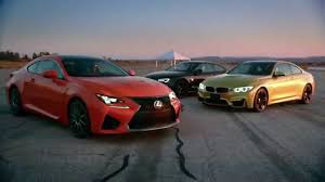 lexus bmw competitive review lexus rc f vs bmw m4 and audi rs 5 youtube