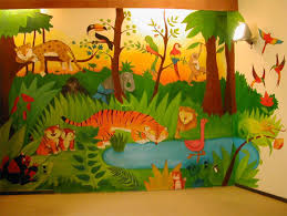 chambre jungle enfant jungle j illustre a