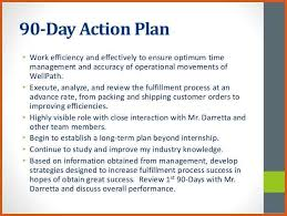 30 60 90 day action plan general resumes