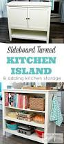 sideboard turned kitchen island wayfair hack mom 4 real