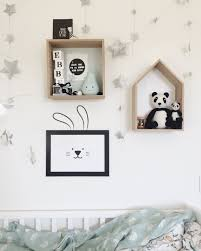 set of bunny ears wall decal and framed poster kids decor zoom